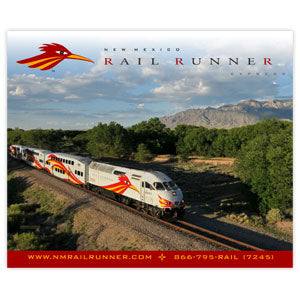 New Mexico Rail Runner Summer Scene Fleece Blanket