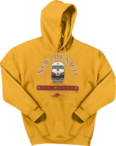 Train Approaching Gold Adult Hoodie