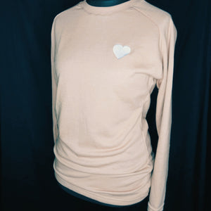 Tan Heart Sweatshirt