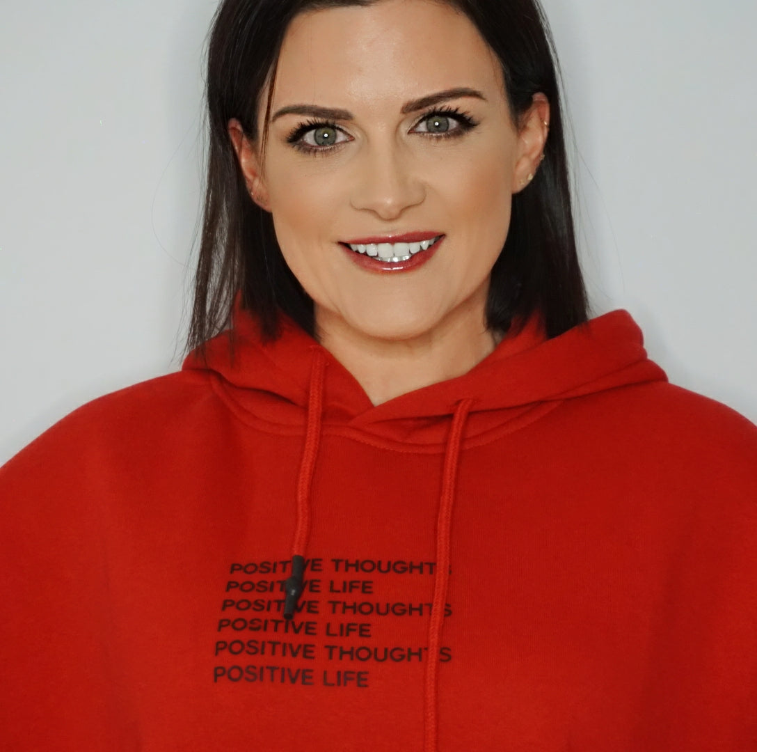 Positive Thoughts Positive Life Hoody (Red)