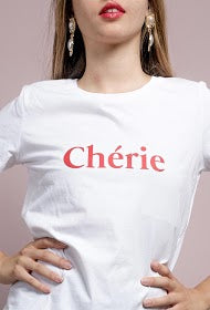 luxury white crew neck soft t-shirt chérie phoenix boutique