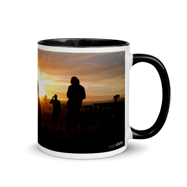 Bike Sunset: Mug with Color Inside