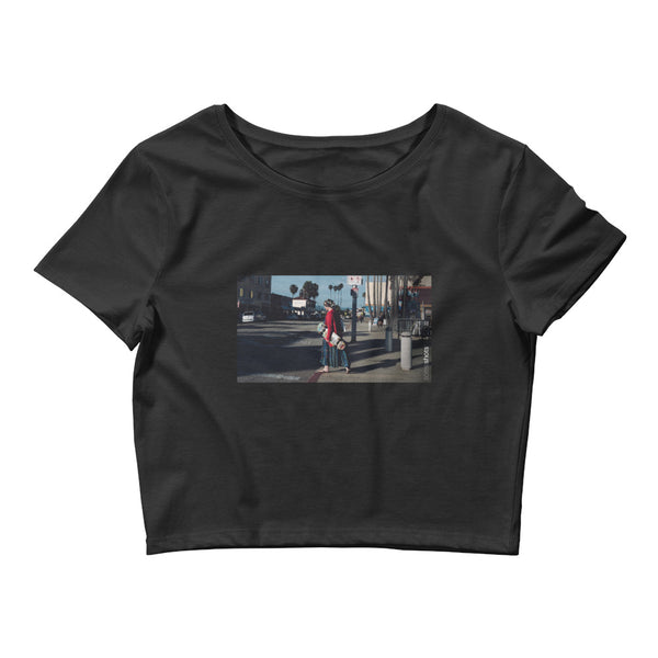 SKATER MOM : Women's Crop Tee