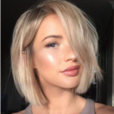 Gorgeous Blonde Fashion Bob Cut Hair Full soft Wig