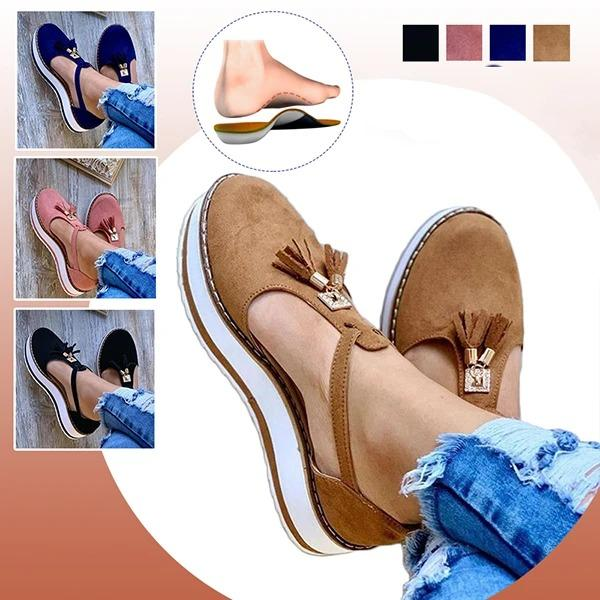 Women's Casual Platform Flat Comfort Shoes