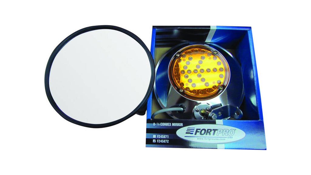 "F245672 | 8-1/2"" LED CONVEX MIRROR LH"