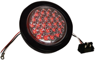 "F235109 | 4"" Round 24 LED Lights (12 Volts)"
