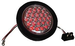 "F235110 | RED Clear, 4"" Dia. 24 LED Sealed 12 V."