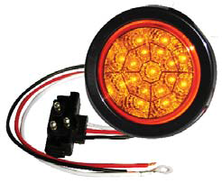 "F235112 | AMBER 4"" Dia. 17 LED Chromed Reflector Sealed"