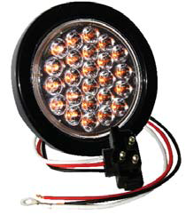 "F235117 | AMBER Clear, 4"" Dia. 24 LED Sealed 12 V."