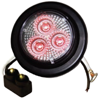 "F235122-24 | RED Clear, 2"" Marker Light 3 LED KIT"