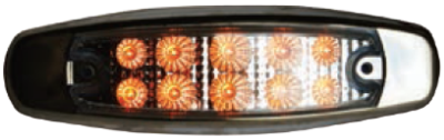 F235139-24 | AMBER Clear Oval Marker Light 10 LED