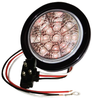 "F235103 | 4"" Round 17 LED Lights (12 Volts)"