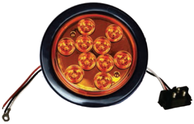 F235160-24 | Amber, 4in Dia. 10 LED Sealed Kit