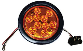 F235161 | Amber, 4in Dia. 10 LED Sealed