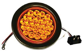 F235118 | 4 ROUND 24 LED LIGHTS  | REPLACE | 12 VOLTS