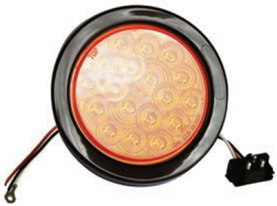 F235164-24 | Amber, 4in Dia. 18 LED Sealed Kit