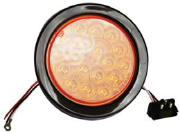 F235165 | 4 ROUND 18 LED LIGHTS | REPLACE 12 VOLTS
