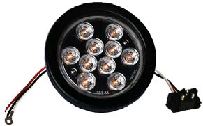 F235167 | 4 ROUND LED LIGHTS | REPLACE | 12 VOLTS