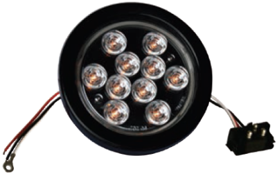 F235166-24 | Amber Clear, 4in Dia. 10 LED Sealed Kit