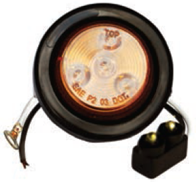 "F235234 | Amber, 2"" Dia. 4 LED sealed"