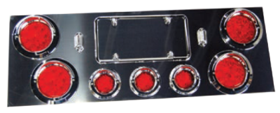f235298 stainless steel rear led light panel truck and trailer