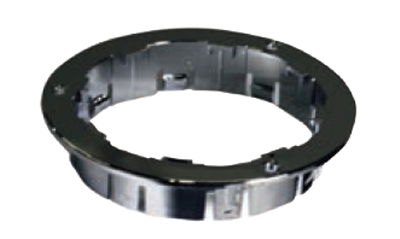 "F235326 | 4"" ROUND MOUNTING FLANGE BRACKET CHROME"