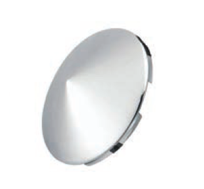 F245697 | POINTED CHROME FRONT HUB CAP