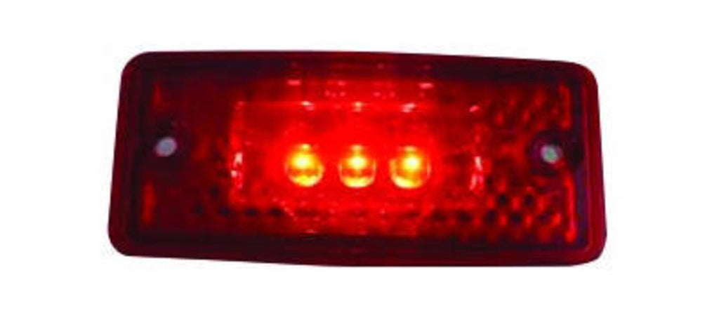 RED CLEAR, 3 LED CAB LIGHT