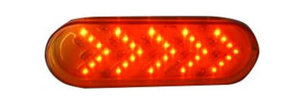AMBER ARROW OVAL SEQUENTIAL MARKER LIGHT 35 LED