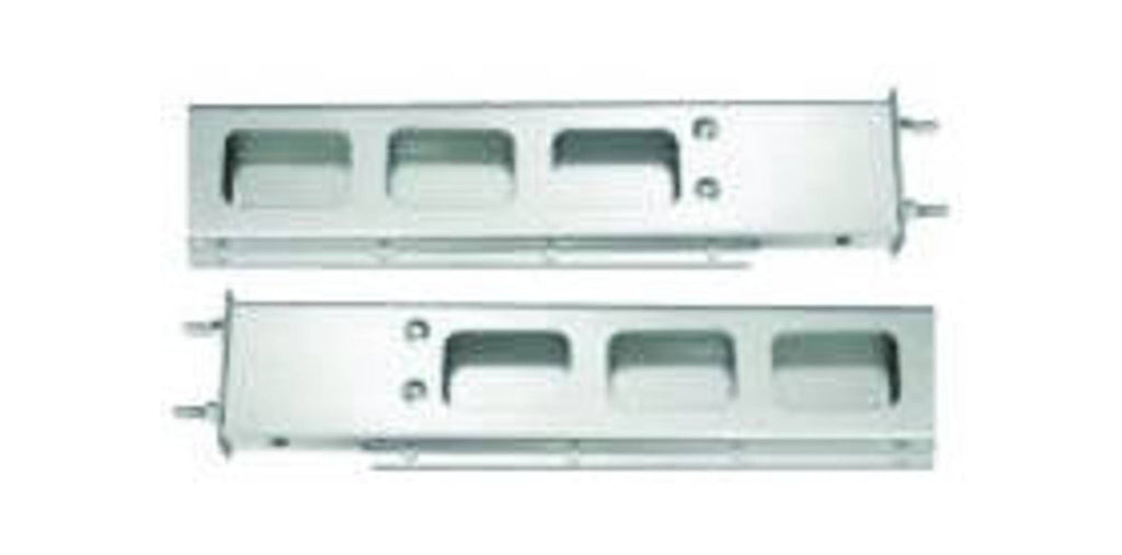 "CHROME SPRING LOADED 2 PIECES LIGHT BAR WITH RECTANGULAR CUT OUT 6""X30""X2.25"""