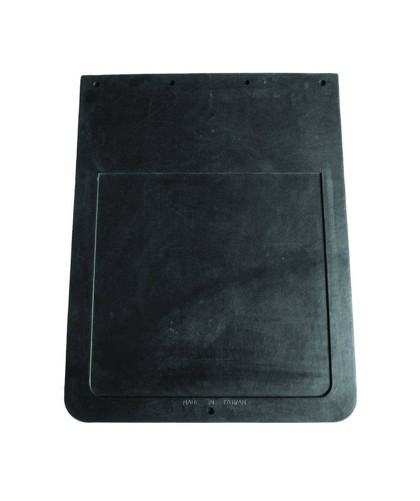 "MUD FLAP PLAIN BLACK 24""X24"""