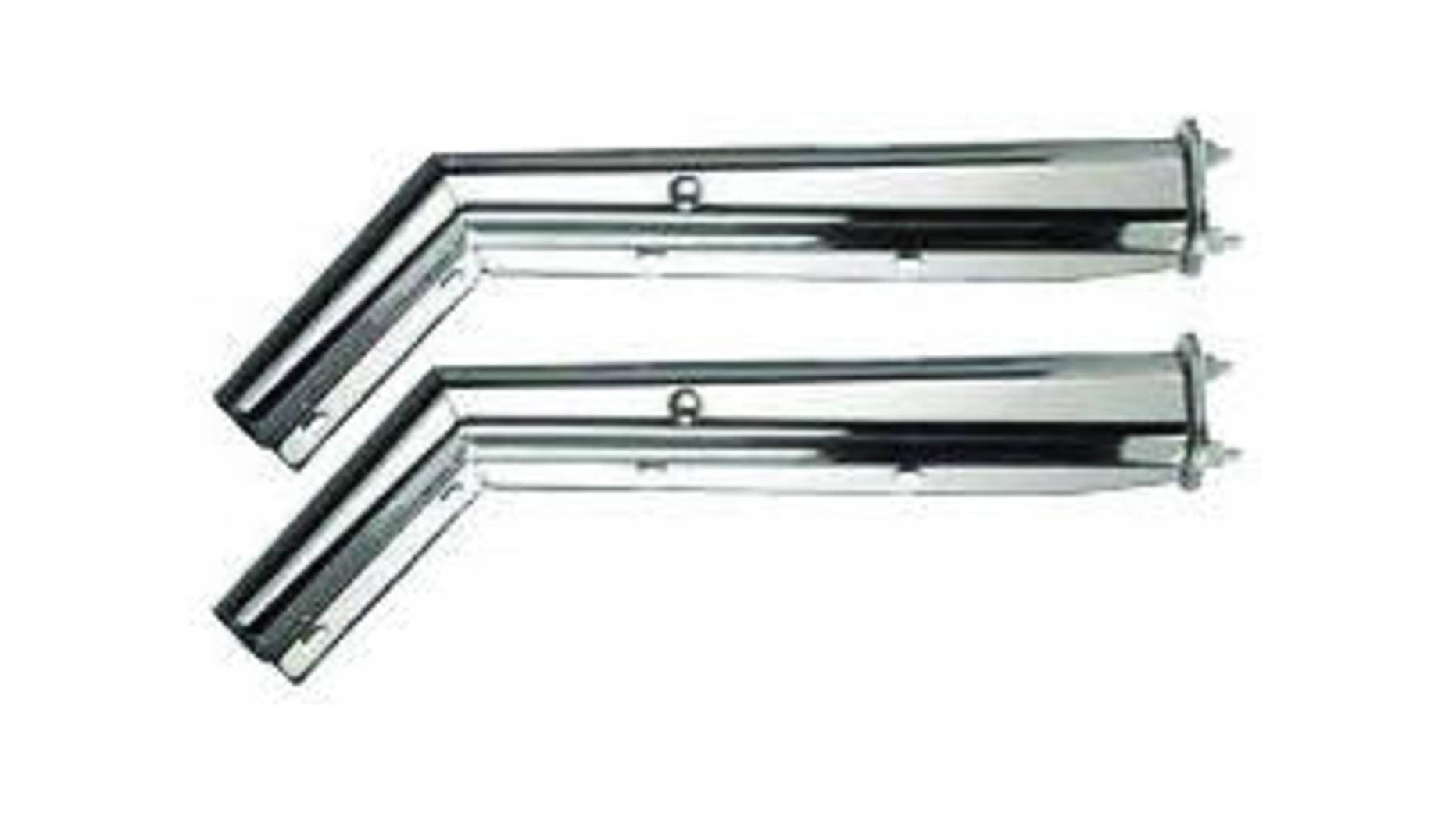 f mud flap hanger chrome degree angel spacing f245522 mud flap hanger chrome 45 degree angel 2 1 2 spacing between bolts by pair