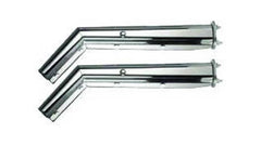 "F245522 | Mud Flap Hanger Chrome 45 degree angel 2-1/2"" spacing between bolts. Sold by pair"