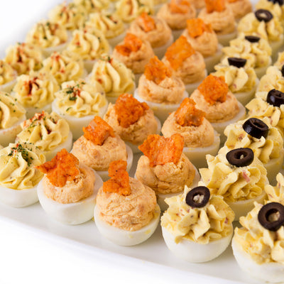 DEVILED EGG TRIO SNACK PLATTER