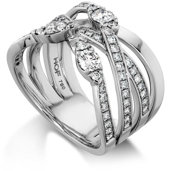 0.85 ctw. Aerial Diamond Right Hand Ring in 18K White Gold