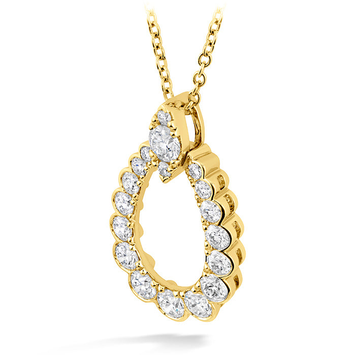 0.85 ctw. Aerial Regal Teardrop Pendant in 18K White Gold