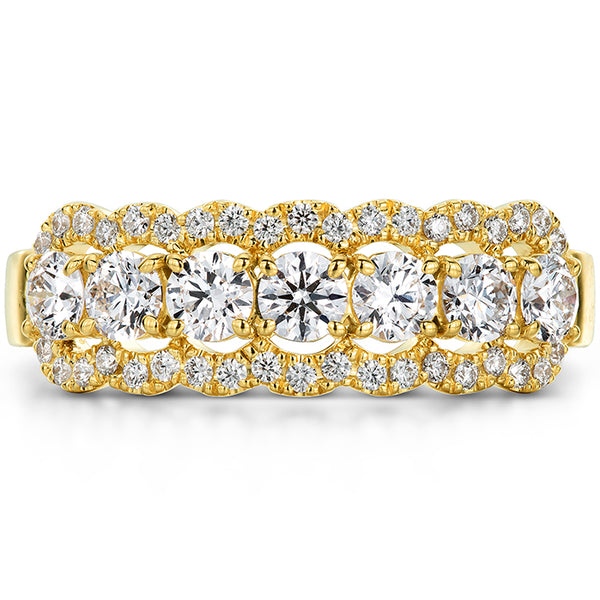 0.94 ctw. Aurora Seven Diamond Band in 18K White Gold