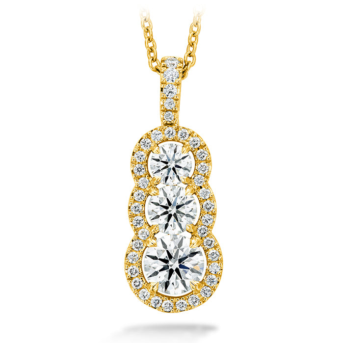1.07 ctw. Aurora Pendant - Large in 18K White Gold
