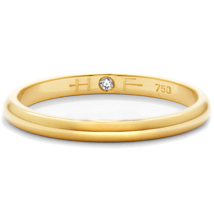Ladies Half-Round Comfort Fit Band in 18K White Gold