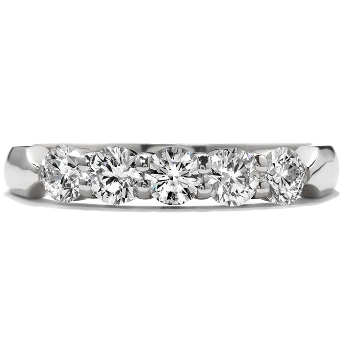 0.25 ctw. Five-Stone Wedding Band in 18K White Gold