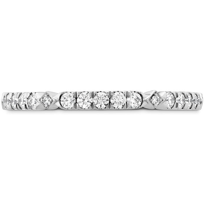 0.25 ctw. Cali Chic Diamond Accent Band in 18K White Gold