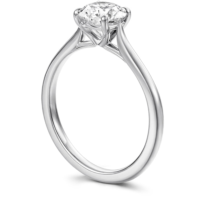 Camilla 4 Prong Engagement Ring in 18K White Gold