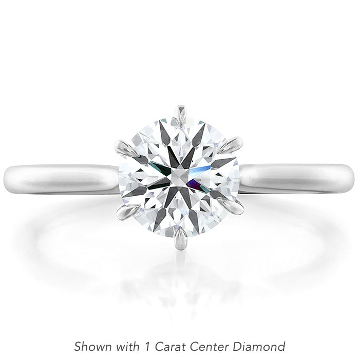 Camilla 6 Prong Engagement Ring in 18K White Gold