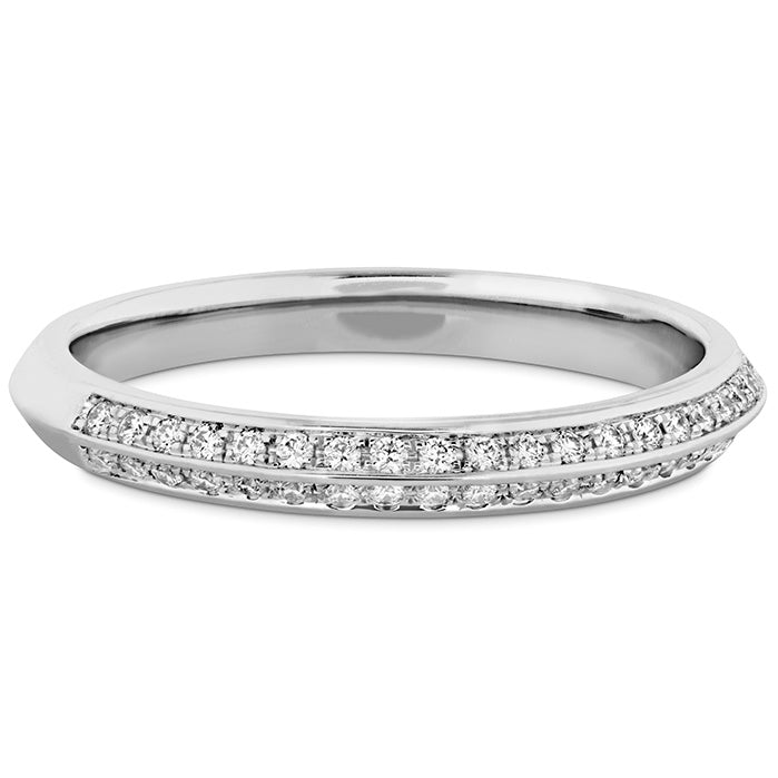 0.18 ctw. Camilla Pave Knife Edge Band in 18K White Gold