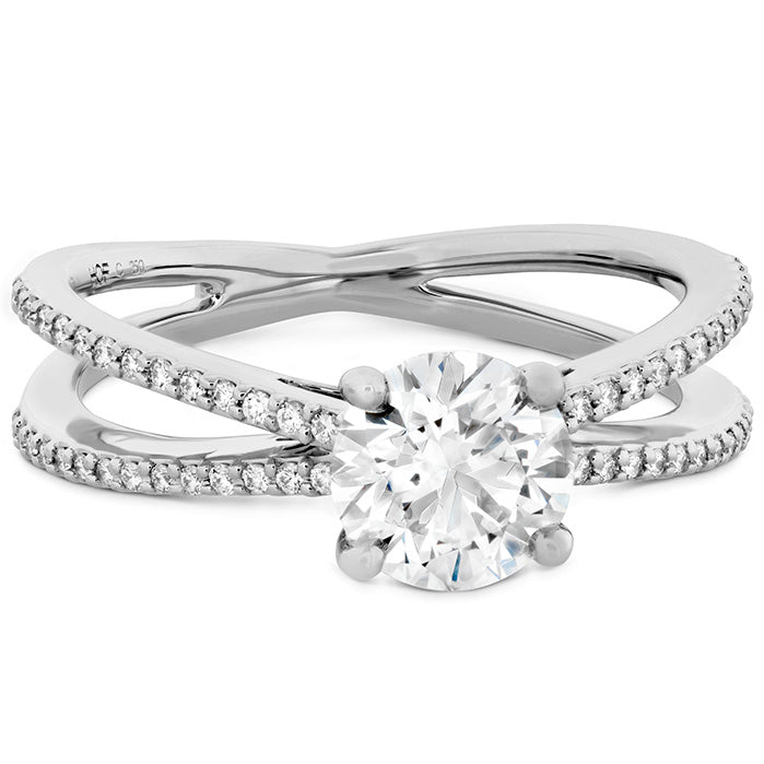 0.14 ctw. Camilla Split Shank Engagement Ring in 18K White Gold