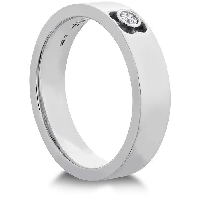 0.06 ctw. Copley Single Diam Band 5mm in 18K White Gold