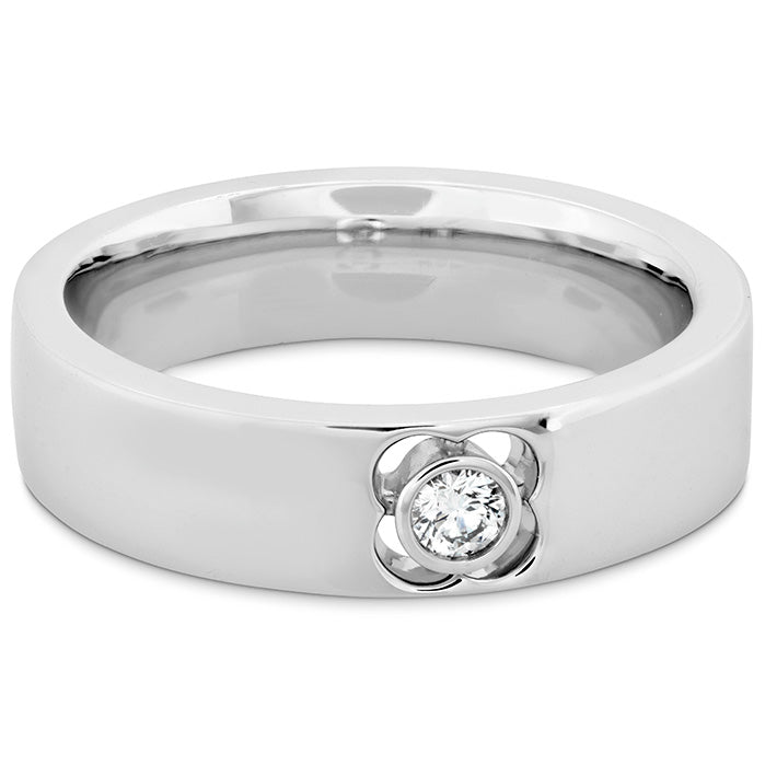 0.1 ctw. Copley Single Diam Band 6mm in 18K White Gold