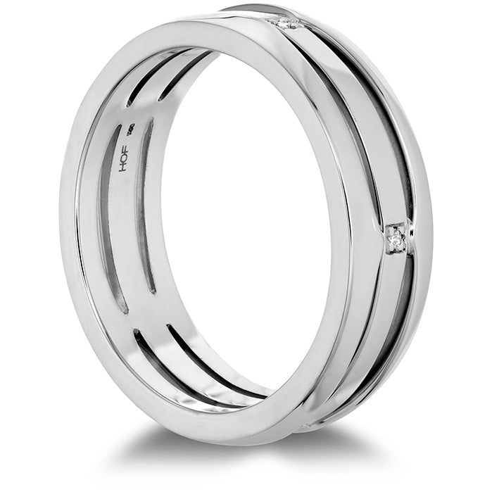 0.05 ctw. Copley Triple Row Mens Band in 18K White Gold