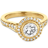 0.3 ctw. Deco Chic HOF Halo Semi-Mount in 18K White Gold
